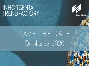 Save the date INHORGENTA TRENDFACTORY: October 22, 2020