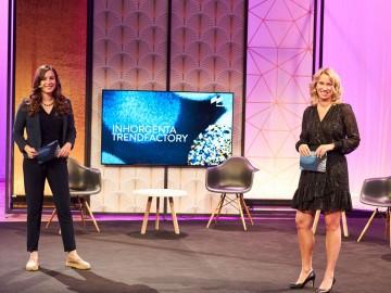 INHORGENTA TRENDFACTORY #ReInspire with (l. t. r.) Hanna Klose Moderation and Stefanie Mändlein, Exhibition Director at INHORGENTA